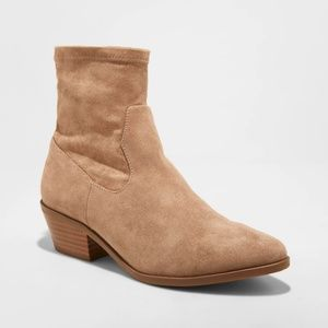Women's Loraine Microsuede Western Sock Booties